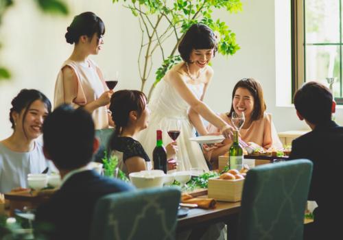 ヴィクトリアフォレスト ウェディングパーティーの料理イメージ